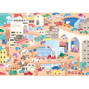 """Puzzle Michele Wilson (W442-24) - Lucie Georger: """"Vive la Ville"""" - 24 pièces"""