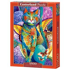 "Castorland (C-151448) - David Galchutt: ""Feline Fiesta"" - 1500 pièces"