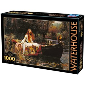 """D-Toys (72757) - John William Waterhouse: """"The Lady of Shalott"""" - 1000 pièces"""