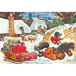 """Gibsons (G3090) - Norman Thelwell: """"A Thelwell Christmas"""" - 500 pièces"""