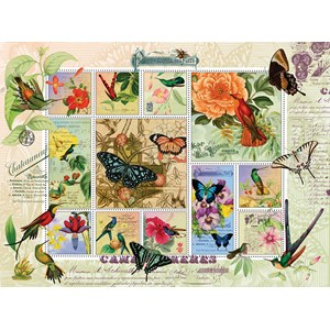 """SunsOut (55962) - Finchley Arts: """"Butterfly and Hummingbird Flight"""" - 1000 pièces"""